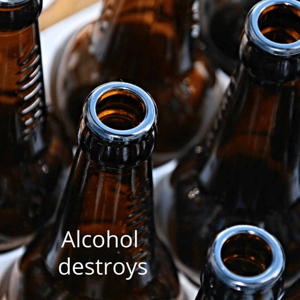 alcohol destroys